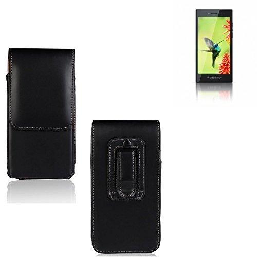 Für Blackberry Leap Holster Gürtel Tasche Gürteltasche Schutzhülle Handy Tasche Schutz Hülle Handytasche Smartphone Hülle Seitentasche Vertikaltasche Etui Belt Bag Schwarz Für Blackberry Leap