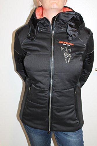 Sportalm Kitzbühel Damen Ski Jacke Cat mit Kapuze Schwarz Orange Größe 44 XXL