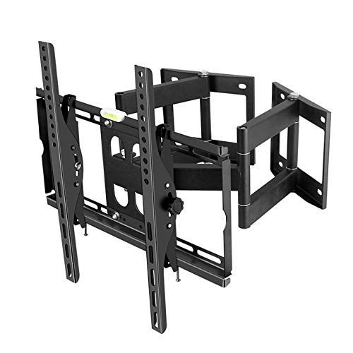 Soporte de Montaje en Pared de TV inclinable Ajustable,para la mayoría de televisores de Pantalla Plana Curva LED LCD de 32-55 Pulgadas,inclinable MAX VESA 400x400 mm (55in,Black)