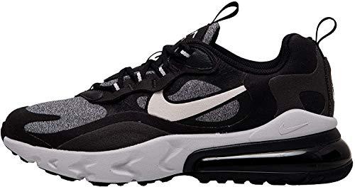 Nike Air Max 270 React (Gs) Chaussures de course pour garçon - Noir - Black Vast Gris Blanc 003, 38.5 EU