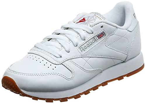 Reebok Classic Leather Zapatillas, Mujer, Blanco (Int-White / Gum), 38 EU