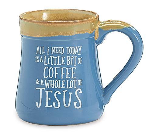 Burton and Burton 9735498 A Little Coffee a Lot of Jesus Porcelain Mug, 18 Ounce