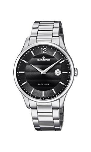 Candino Herren Datum klassisch Quarz Uhr mit Edelstahl Armband C4637/4