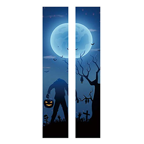 Fasclot Halloween Ghost in Front of The Creative 3D Door Decorative Personality Stickers Home & Garden Wall