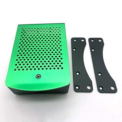 nbvmngjhjlkjlUK Custodia in Alluminio Scatola di Metallo Verde con Custodia con Ventola Verde per Rpi 4 Modello B Custodia Rpi 4B (Verde)