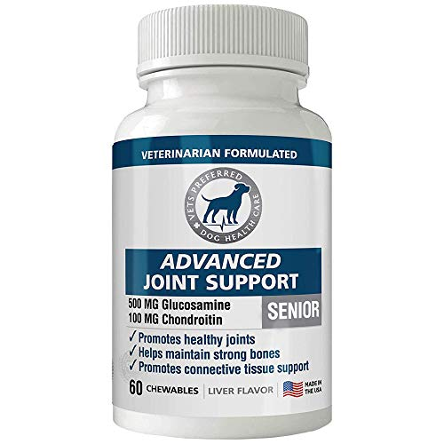 Advanced Joint Support - Premium, VETERINARIAN-GRADE Dosage of Glucosamine & Chondroitin - Joint Supplements for Dogs