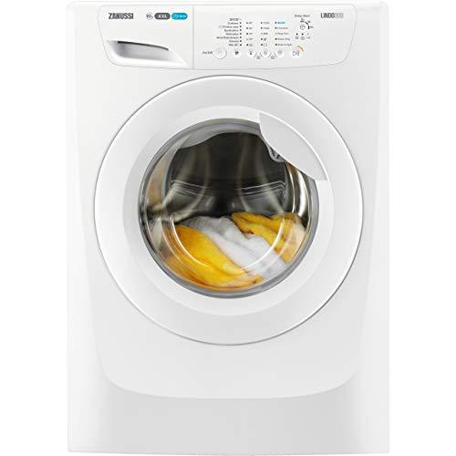 Zanussi ZWF01280W Freestanding Washing Machine, Quick Wash, 10kg Load, 1200rpm spin, White