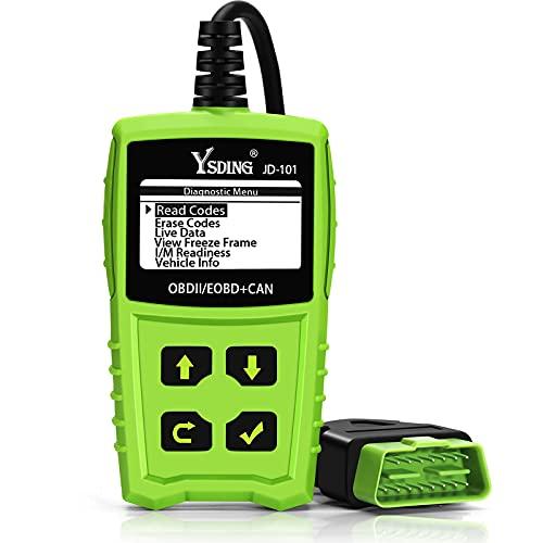 Ysding OBD2 Diagnosegerät für alle Fahrzeuge, Auto Diagnosegerät Universal Deutsch-Fehlercode-Auslesegerät,Automotor Fehler-Code Scanner Diagnose Scan Werkzeug für Alle OBDII Protokoll,Batterie Test