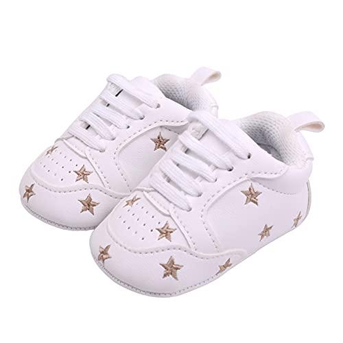 GUOQUN-SHOP Plataforma Unisex bebé Newborn Baby Boys Girls Girls Heart Star Pattern Zapatos Nizños Primeros andadores Kids Soft Suela PU Zapatillas (Color : D, Shoe Size : 12cm (4.72 in))