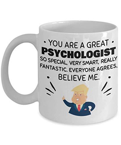 N\A Trump Profession - Psicólogo - Regalo de cumpleaños para compañeros de Trabajo, Aniversario, San Valentín, ocasión Especial, papás, mamás, Familia, Navidad - Divertida Taza de café de 11 oz