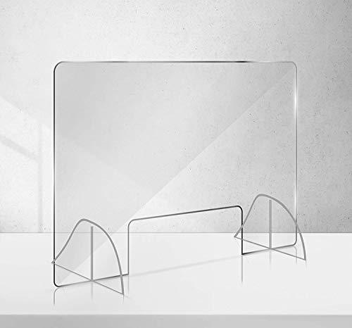 Manschin-Laserdesign Acryl Schutzschild | Niesschutz | Spuckschutz | Thekenaufsteller | Schutz gegen Tröpfcheninfektion 750x500mm (750x500mm Querformat)