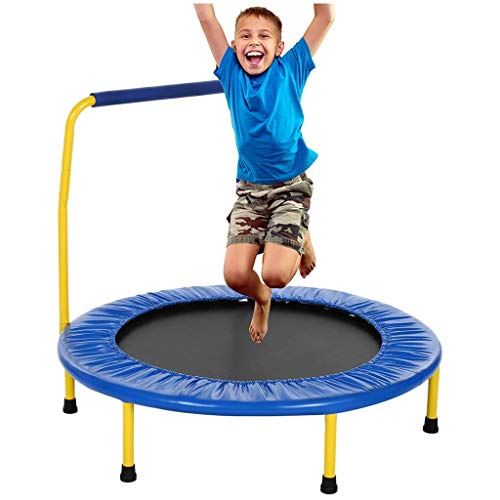 Rebounder Trampolines 36' Mini Trampoline for Kids with Detachable Handle,Folding Design, Safety and Durable Toddler Trampoline for Outdoor/Intdoor/Garden Exercise Equipment