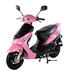 SMART DEALSNOW Brings 80 percent  assembled 49cc/50cc scooter Moped with a MATCHING TRUNK Included Front Tires: 100- 60  -10 inches Steel Rims Rear Tires: 100 -  60  - 10 inches Steel Rims Double seat for 2 adults + Matching Trunk Note: It is extreme...