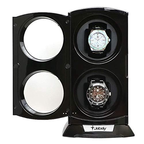 LJW Watch Watch Winder Box Jebely Black Watch Winder para Relojes automáticos Relojes Double Relojes Automático Reloj de Joyería Caja de exhibición   Código de Productos: LJW-53