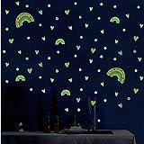 N\A vinilos de Pared Decorativos 3 pcs/Set Rainbow Light Etiqueta de la Pared Dormitorio decoración del Dormitorio Mural Kid Baby Room Wallpaper Brilla en la Oscuridad Pegatina.
