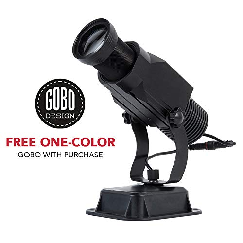 INSTAGOBO 15W LED Custom Image GOBO Logo Projector Light with Static Function Manual Zoom&Focus Customized Gobos for Indoor Use Company Hotel Restaurant Advertising Signs