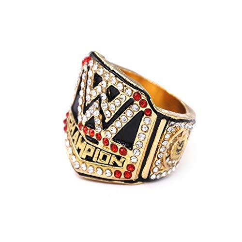 Fei Fei Meisterschaftsringe, 2016 WWE Meisterschaftsring Europäische und amerikanische Hall of Fame WWE Replica Champions Ring für Fans Geschenk Männer Andenken,Without Box,12