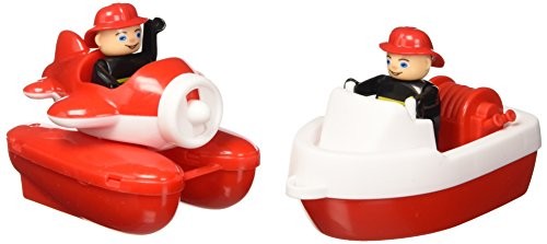 BIG 55133 - Strandspielzeug-Wasserspiel Fire-Boat-Set