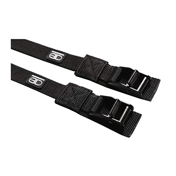 OCEANBROAD Roof Rack CargoTie Down Strap 2 Pieces Pack for Surfboard SUP Board Kayak Canoe 1 inch 14 feet, 1.5 inches 14… 6 SPECIFICATIONS: Set of 2 straps, strap width 1 inch, strap length 14 feet, cam buckle width 1.5 inches. SUPERIOR STRENGTH: Durable UV resistant polypropylene with reinforced stitching, heavy duty anodized zinc alloy cam buckle. VERSATILE: Suitable to secure surfboards, SUP boards, canoes and kayak etc. to your car roof rack.