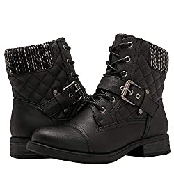 professional GLOBALWIN Ladies Black Ankle Boots Fashion Combat Boots 8.5m