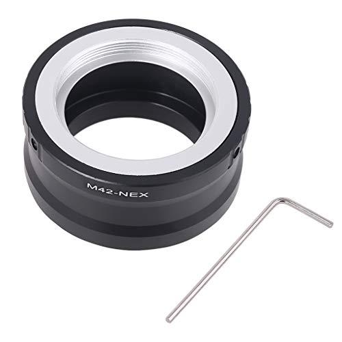 Morningmo M42 - Adattatore convertitore per obiettivo fotocamera Sony NEX E Mount NEX-5 NEX-3 NEX-VG10 per fotocamere fotografiche e accessori