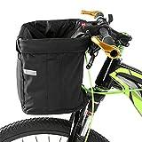 WAFFZ Bicicleta delantera cesta extraíble impermeable bicicleta manillar cesta mascota bolsa deportes al aire libre para Ciclismo suministros