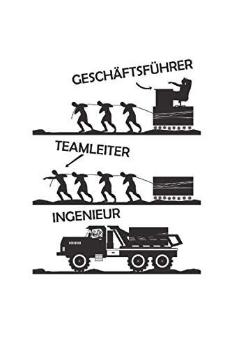 Geschäftsführer. Teamleiter. Ingenieur.: Notizbuch A5 gepunktet, Geschenk für alle Unternehmer oder Büroarbeiter, Skitzzenbuch | Mattcover