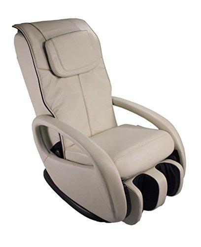 Massagesessel Premium Alpha Techno 2000 Klopf Knet Shiatsu Rollen Waden Fuß (beige)