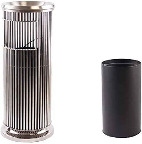 DZCGTP Papelera de Reciclaje de residuos/Papelera de Basura Bote de Basura Vertical de Hotel con cenicero Papelera Interior separada para Hotel KTV Elevador Cenicero TR