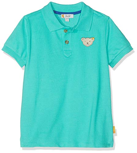 Steiff Jungen Poloshirt, Grün (Aqua Green 5007), 110