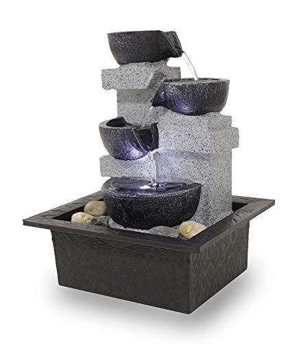 Kiom Fuente Interior Mesa Fuente Decorativa FoQuadrato con Led 10863