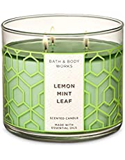 Bath and Body Works Home Lemon Mint Leaf scented, 430ml, 3 wicked candle