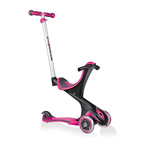 Globber Unisex kinder Scooter EVO COMFORT 5in1, pink, Einheitsgröße, 458-110
