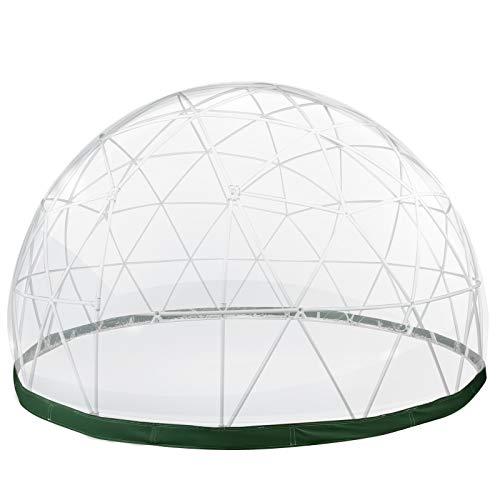 VEVOR Bubble Zelt 97 ft² Kuppelzelt Garten Iglu ABS-Kunststoffrahmen Ø 9,5 ft PVC-Frostschutzfolie Gartenhaus Gewächshaus Pavillon 2X Lichterketten ideal für Jede Veranstaltung im Außenbereich