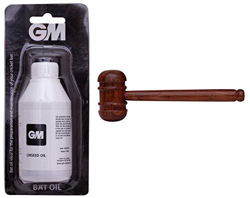 GM Linseed Oil Cricket 100Ml & 1600565 Shesham Bat Mallet Combo