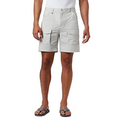 Columbia Men's Permit III Shorts, Sun Protection, Large x 6, Cool Grey