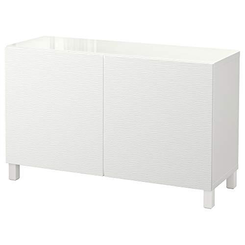 BESTÅ förvaringskombination med dörrar 120 x 40 x 74 cm vit/Laxviken vit