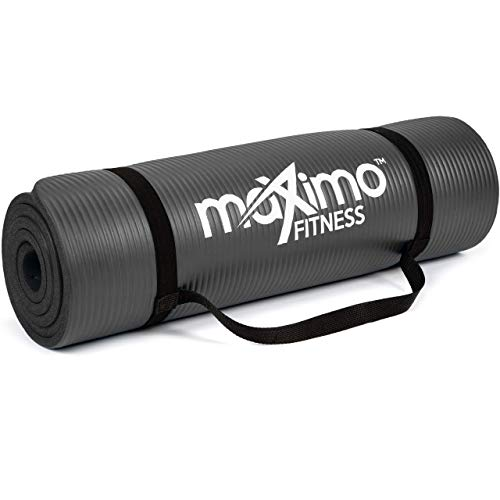 Maximo Exercise Mat - Multi-Purpose 183cm x 60cm Extra Thick Yoga Mats for...