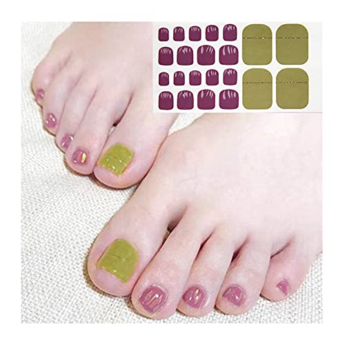 Foot Nail Sticker for Women & Girl,Waterproof Toe Nail Art Decals,Toe Nail Stickers DIY Nail Decoration Art,Color Nails Wraps Self-Adhesive False Nails,Toenail Wraps Art Stickers (K2)