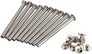 Scrapbook Photo Albums M5 x 60MM Nickel Plated Binding Screw on Post 10 Pieces