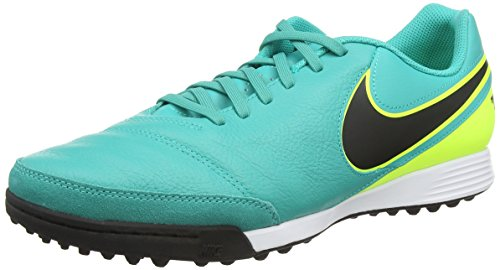 Nike Men's Tiempo Genio Leather Turf Clear Jade/Black/Volt...