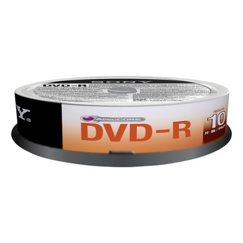 Sony 10DMR47SP DVD-R Rohlinge (16x Speed, 4,7GB, 120 Min, 10-er Stück Spindel)