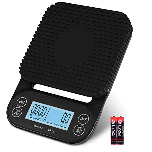 Fuzion Coffee Scale with Timer, Beeps Function, 3000g/0.1g