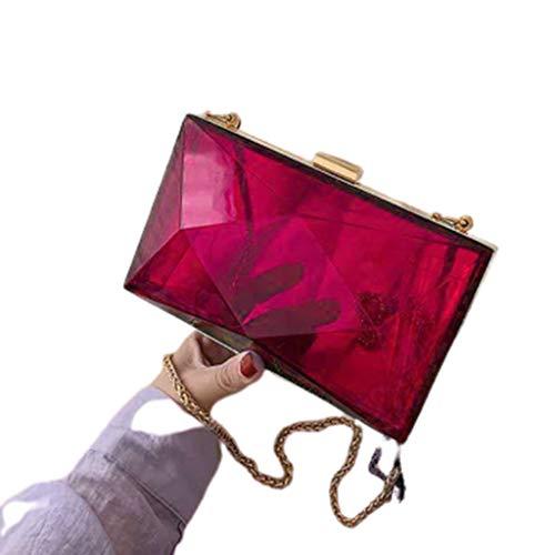 Chenso Bolso de mano para mujer, acrílico, de noche, para novia, clutch, fiesta, graduación, boda, cruzado, bolso de mano