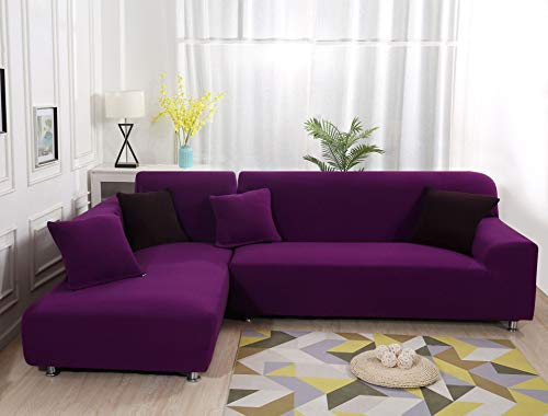 PPOS Funda de sofá de Esquina elástica de rombo Grueso para Sala de Estar en casa, sección Transversal de la Funda de sofá para sillón reclinable A6 45x45 Funda de Almohada-1 Pieza