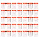 Artibetter Taza de Muestra de Plástico de 50 Piezas Recipiente de Orina Taza de Muestreo Estéril para Uso Médico de Laboratorio (Color Aleatorio de 40 Ml)