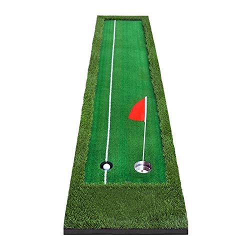 Alfombra de práctica Mat de golpe de golf - 3M portátil interior al aire libre de golf al aire libre Putter Putter Swing Fairway Creasway Capacitación de golf Holder CLUB Holder Office Home Mat Experi