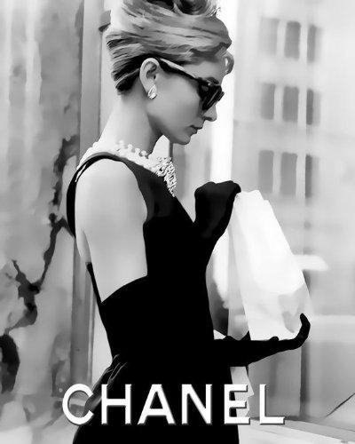 CHANEL/シャネル Audrey Hepburn Loves プレミアム キャンパス ポスター