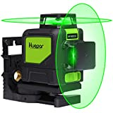 Huepar 2x360° レーザー墨出し器 グリーン 緑色 レーザー クロスライン 自動水平 高輝度 高精度 ミニ型 多機能取付台付属【横フルライン1本+縦フルライン1本タイプ】902CG