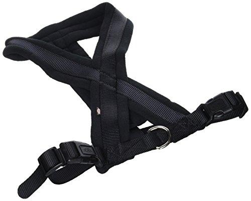TRIXIE Arnés Confort NEW Premium, M-L, 50-80 cm/25 mm, Negro, Perro